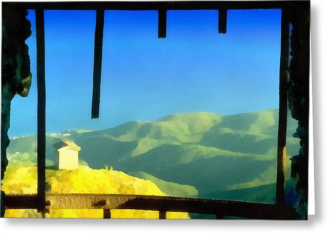 Beigua Landscape From Miniera House Greeting Card