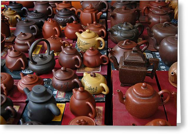 Beijing Teapots Greeting Card