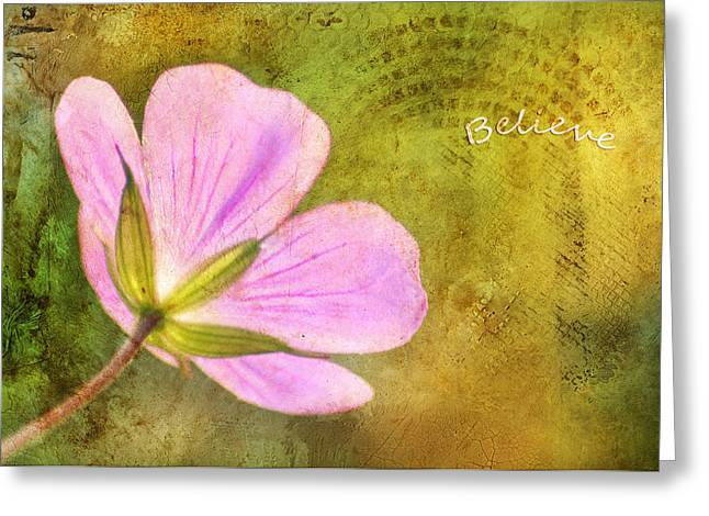 Believe Greeting Card by Darren Fisher