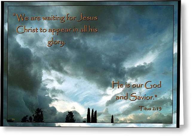 Believers Creed Greeting Card by Glenn McCarthy Art and Photography