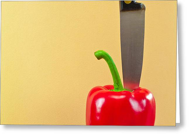 Bell Pepper Greeting Card by Tom Gowanlock