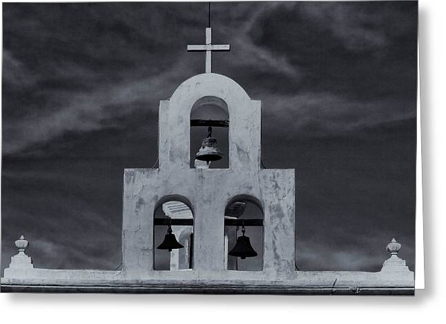 Greeting Card featuring the photograph Bell Tower by Tom Singleton