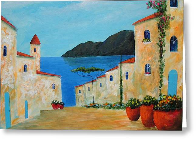 Bella Italia Greeting Card by Larry Cirigliano