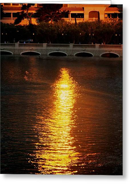 Greeting Card featuring the photograph Bellagio Sunset by Joe Urbz