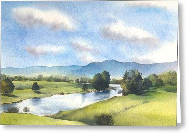 Greeting Card featuring the painting Bellinger River In Spring by Sandra Phryce-Jones