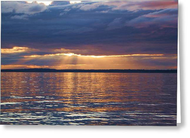 Greeting Card featuring the photograph Bellingham Bay by Karen Molenaar Terrell