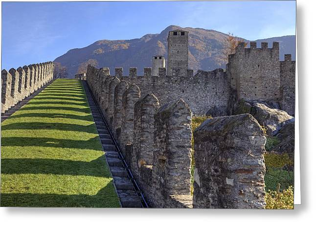 Bellinzona - Castelgrande Greeting Card by Joana Kruse