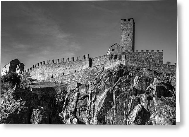 Bellinzona Switzerland Castelgrande Greeting Card by Joana Kruse