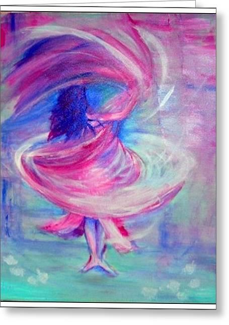 Belly Dancer Greeting Card by Regina Levai