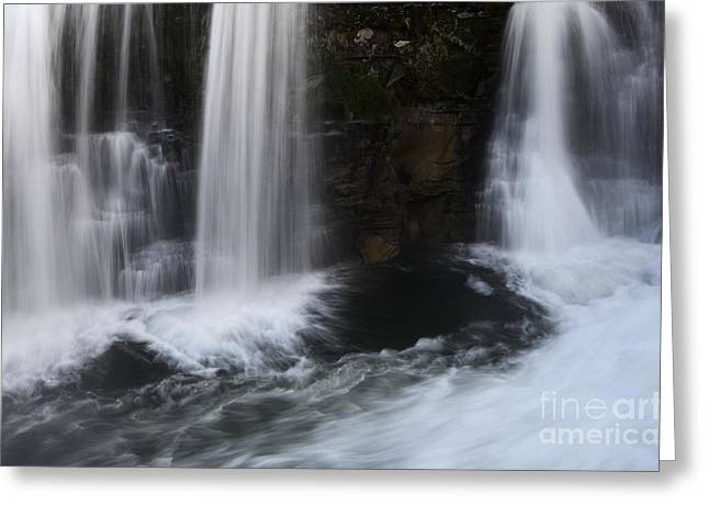 Below The Falls Greeting Card by Bob Christopher