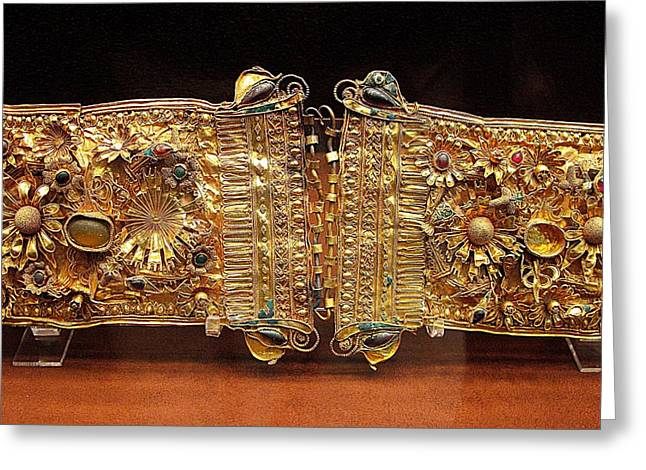 Belt With Gems Greeting Card by Andonis Katanos