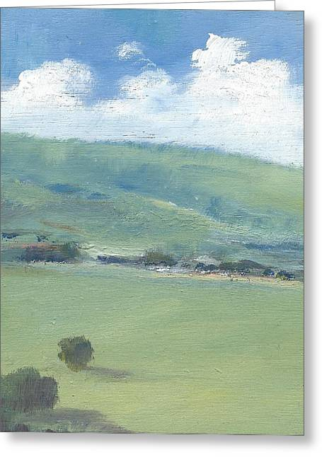 Bembridge Down In Early Summer Greeting Card by Alan Daysh