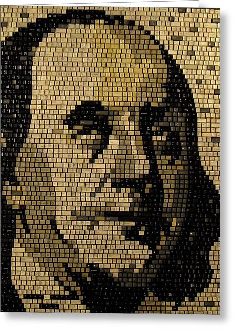 Ben Franklin Greeting Card by Doug Powell