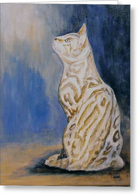 Ben The Snow Bengal Greeting Card