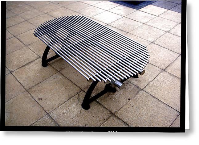 Bench 03 Greeting Card by Roberto Alamino