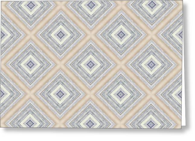 Bench And Wall Pattern Pastel Hues Greeting Card by Hakon Soreide