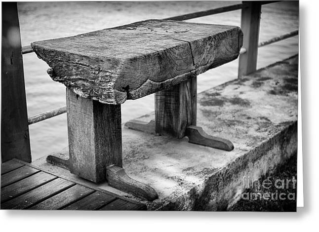 Bench Greeting Card by Thanh Tran