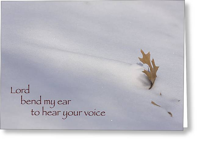 Bend My Ear Greeting Card