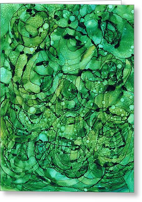Beneath The Emerald City Greeting Card by Christine Crawford