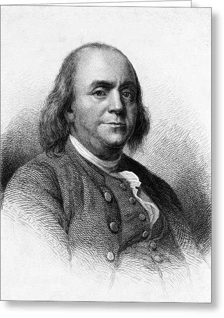 Greeting Card featuring the photograph Benjamin Franklin by International  Images