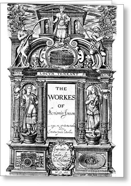Benjamin Jonson (1573-1637) Greeting Card