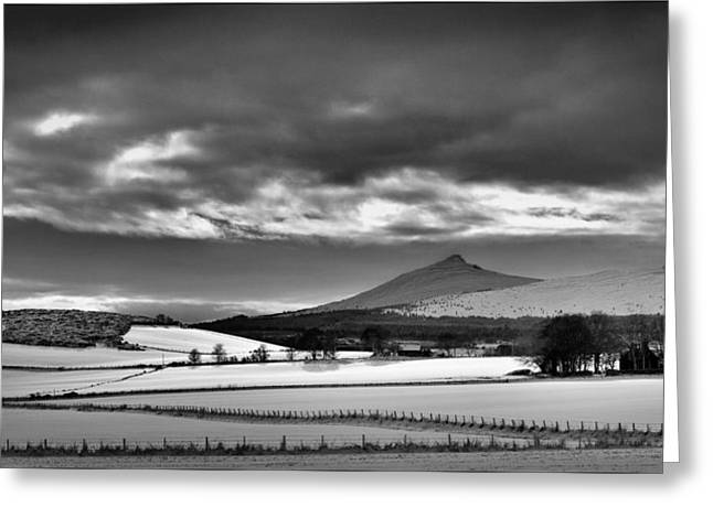 Bennachie In Winter Greeting Card by Andy Stuart