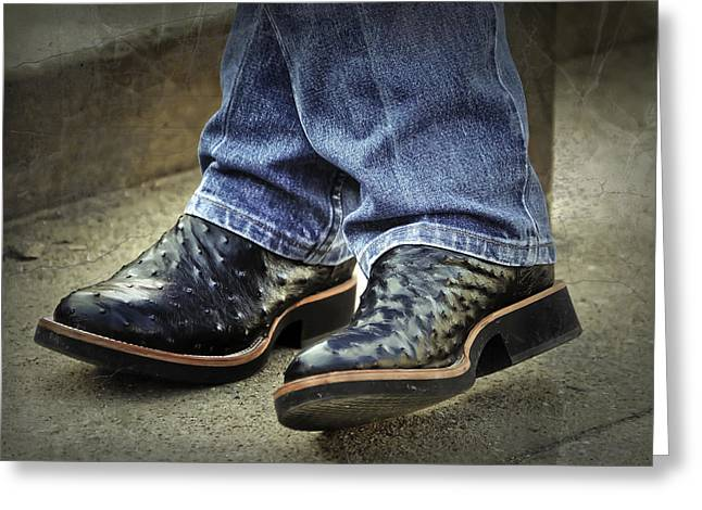 Bennys Boots Greeting Card by Joan Carroll