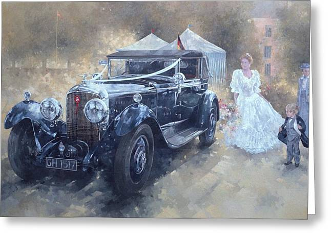 Bentley And Bride  Greeting Card by Peter Miller