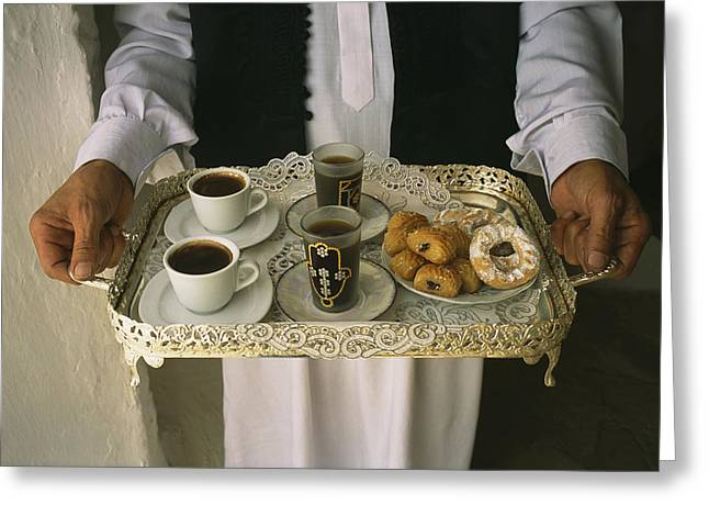 Berber Hospitality In The Form Of Tea Greeting Card