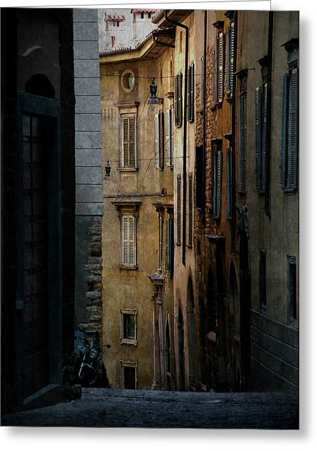 Bergamo Alley Greeting Card by Perry Van Munster