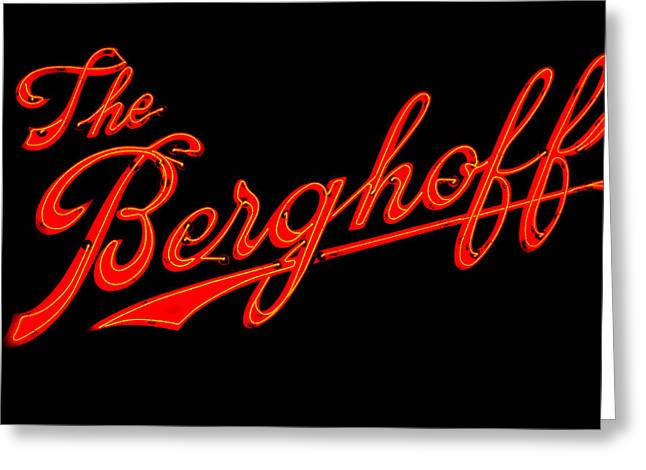 Berghoff Greeting Card by Zannie B