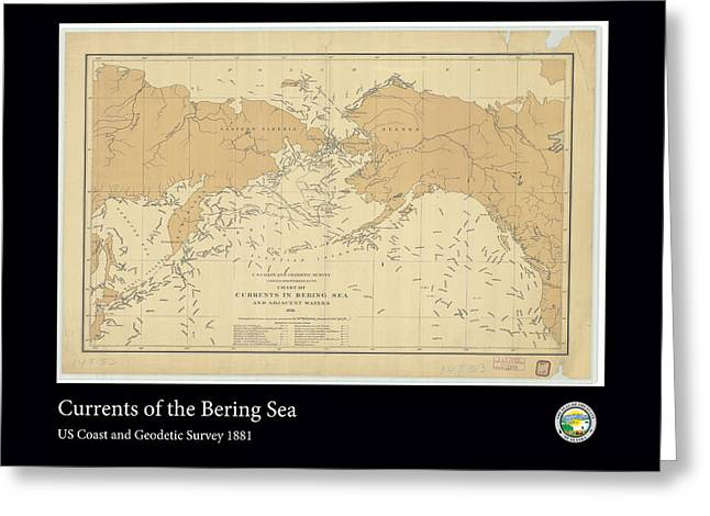 Bering Sea Currents 1881 Greeting Card by Adelaide Images