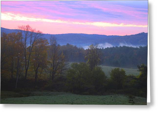 Berkshires Sunrise Greeting Card by Todd Breitling