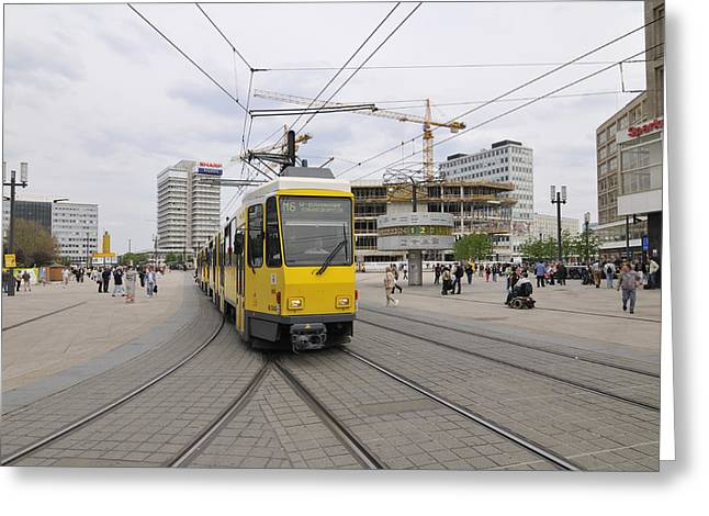 Berlin Alexanderplatz Square Greeting Card