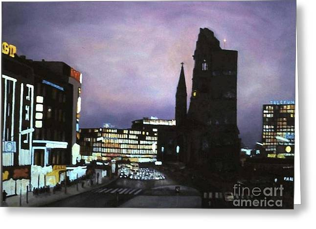 Berlin Nocturne Greeting Card