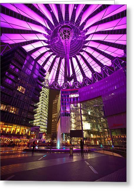 Berlin Sony Center Greeting Card