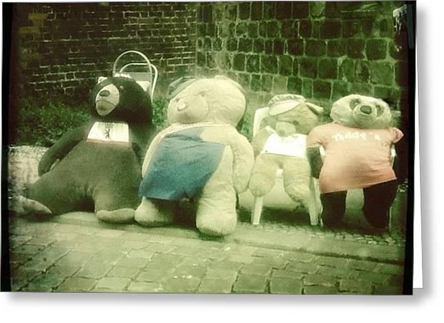 #berlin #teddy #bear #bär #igersberlin Greeting Card