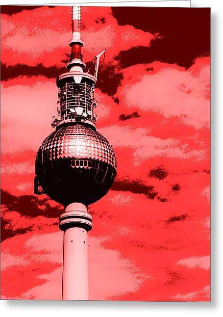 Berlin Television Tower Pop Art Greeting Card