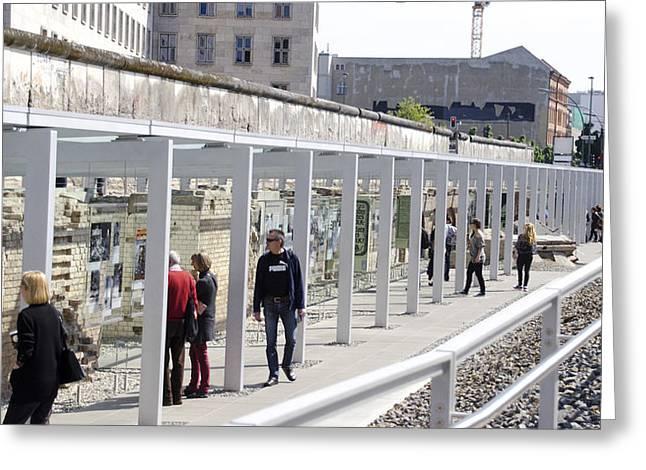 Berlin Wall Remains Greeting Card by Jon Berghoff