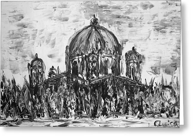 Berliner Dom Greeting Card by Aurica Voss
