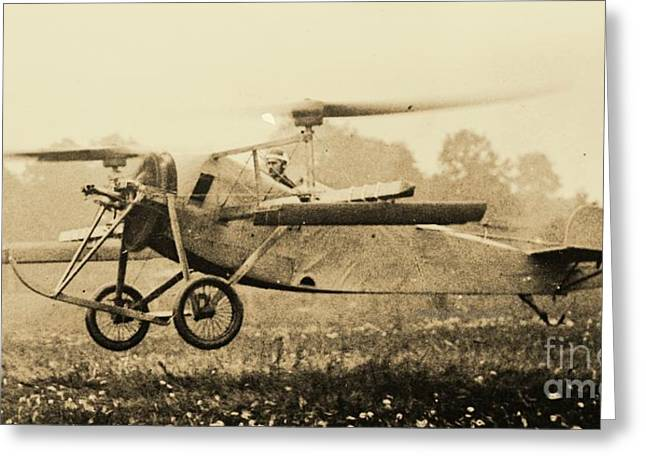 Berliner Helicopter At Take Off Greeting Card by Padre Art