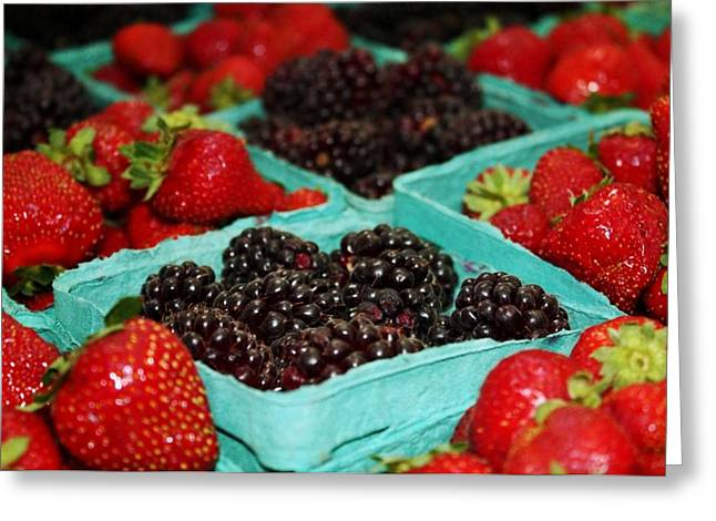 Berries Greeting Card by Cathie Tyler