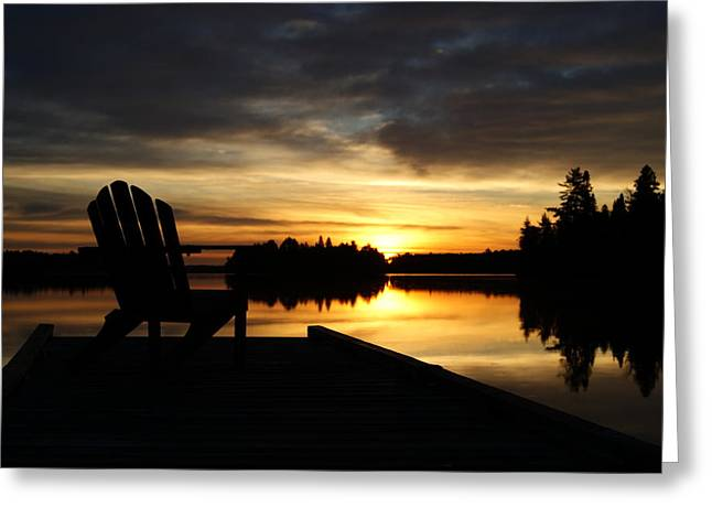 Berry Lake Sunrise Greeting Card