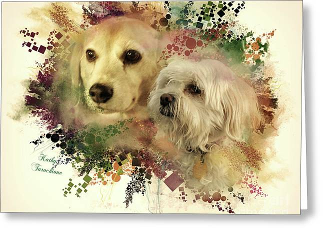 Best Friends Greeting Card by Kathy Tarochione