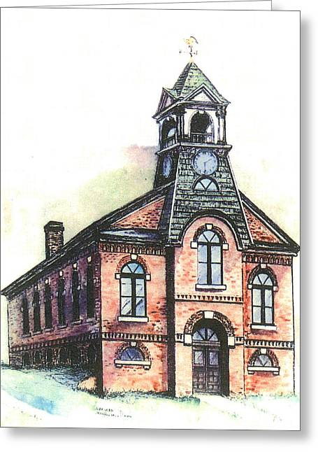 Bethel Vt Old Town Hall Greeting Card