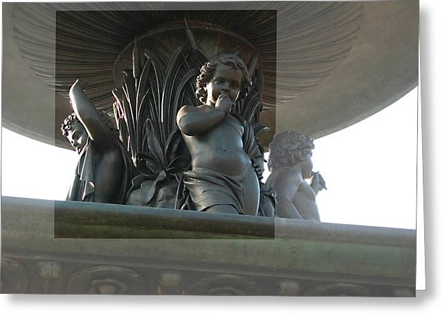 Greeting Card featuring the photograph Bethesda Fountain by Sarah McKoy