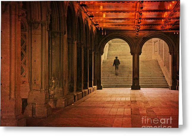 Greeting Card featuring the photograph Bethesda Passage by Deborah Smith