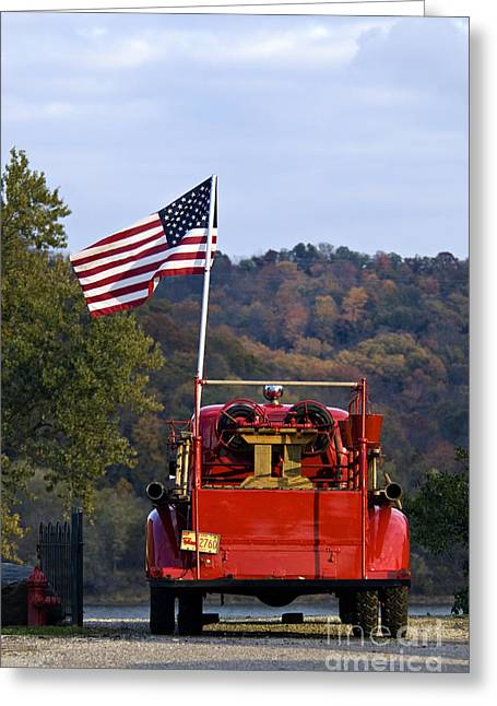 Bethlehem Fire Truck - D008199 Greeting Card by Daniel Dempster