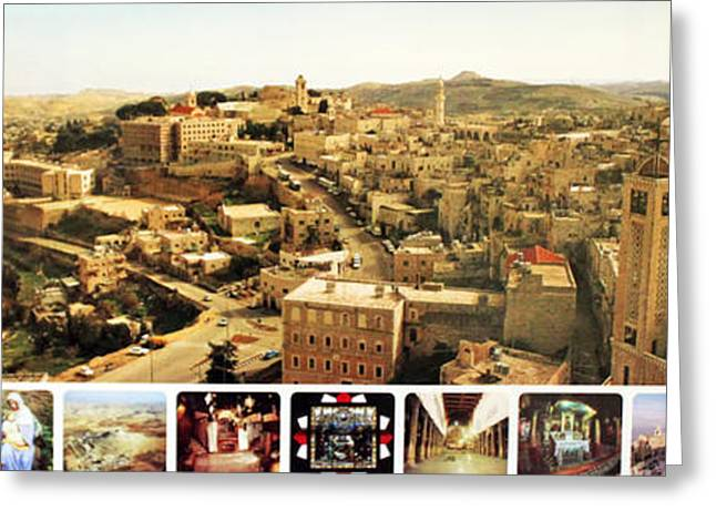 Bethlehem Panorama Greeting Card by Munir Alawi