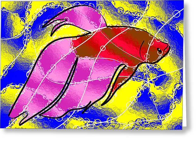 Betta Greeting Card by Stephen Younts